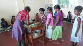 Girls Having Meals Batticoloa Sri Lanka