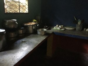 Wellawaya kitchen immaculately clean but desperately in need of refurbishment. Meals for around 25 are cooked here 3 times a day
