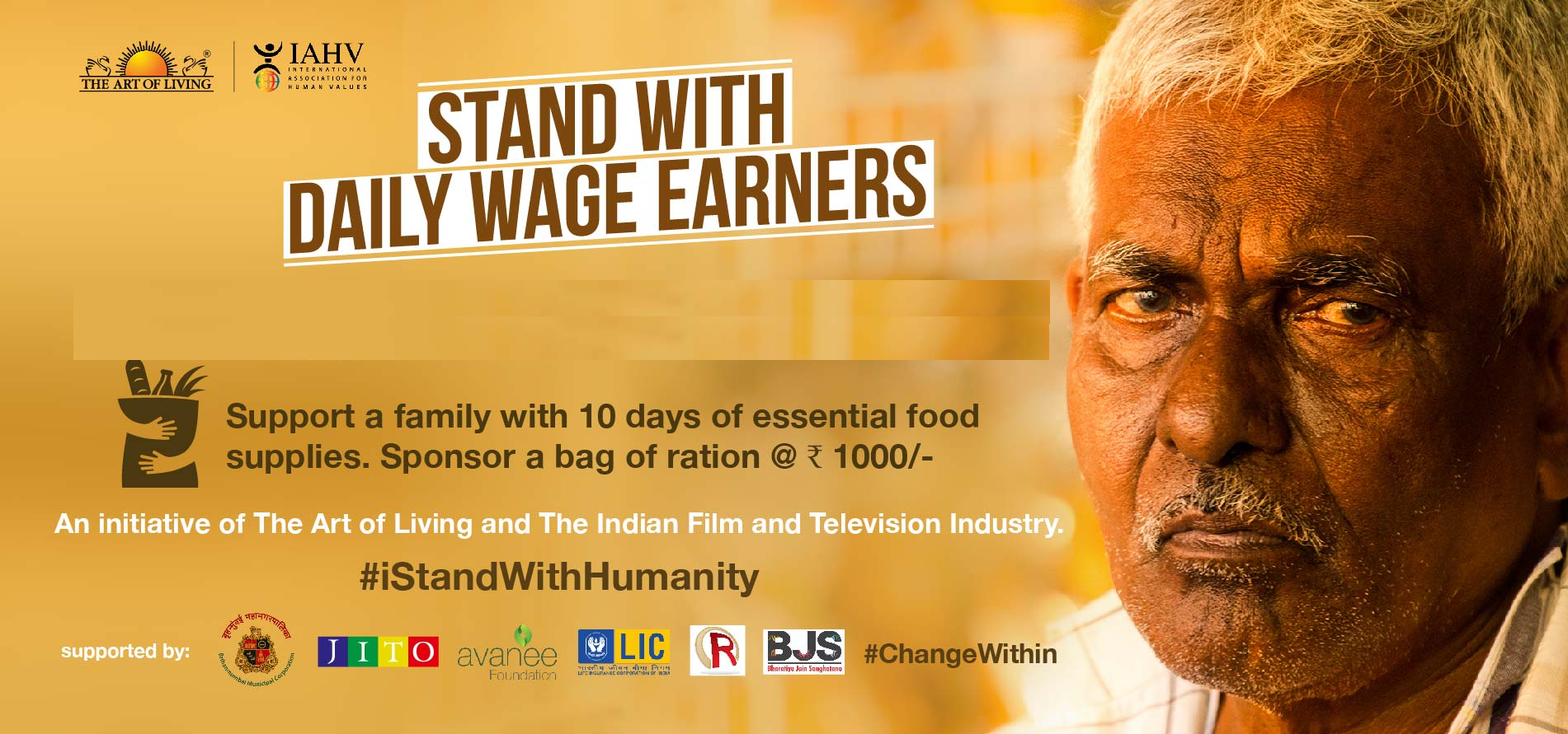 Stand with India's daily workers during Covid!